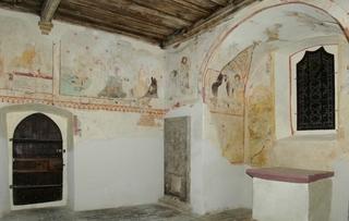 Wernburg, spätmittelalterliche Wandmalerei, Nord- + Südwand
