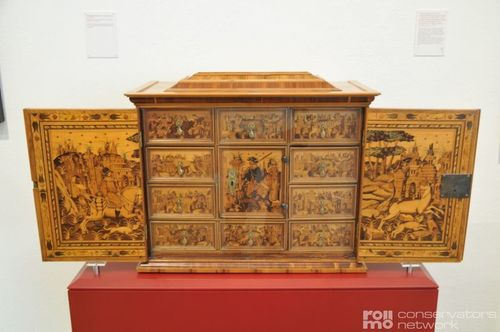 Historical and antique wooden furniture