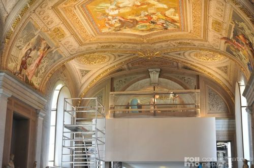 Restoration of murals in the Vatican Museum