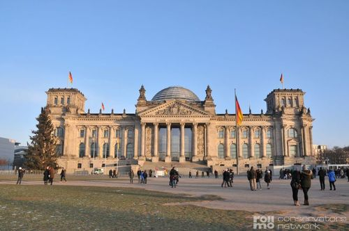 A reconstruction - Reichstag building in Berlin, Germany