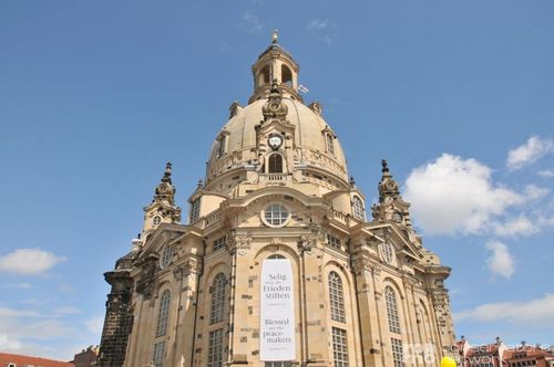 Dresden Frauenkirche from the baroque period - destroyed in 1945, reconstructed from 1994 to 2005