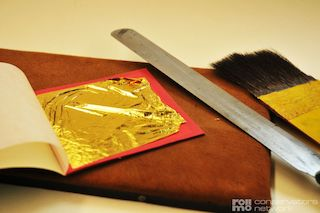 Gilding with gold leaf