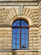 Neue Gruppe: Fensterglas mit historischer Optik